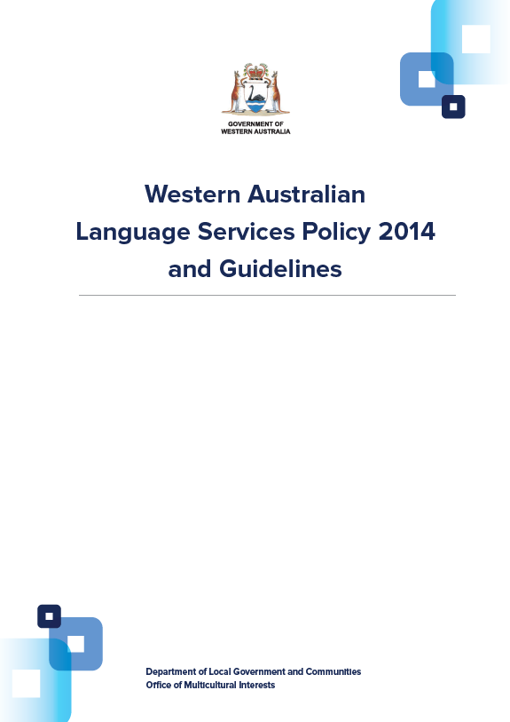 Languages Services Policy 2014 cover