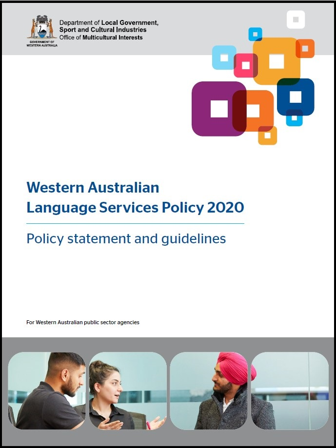 Cover page of WA Language Services Policy 2020