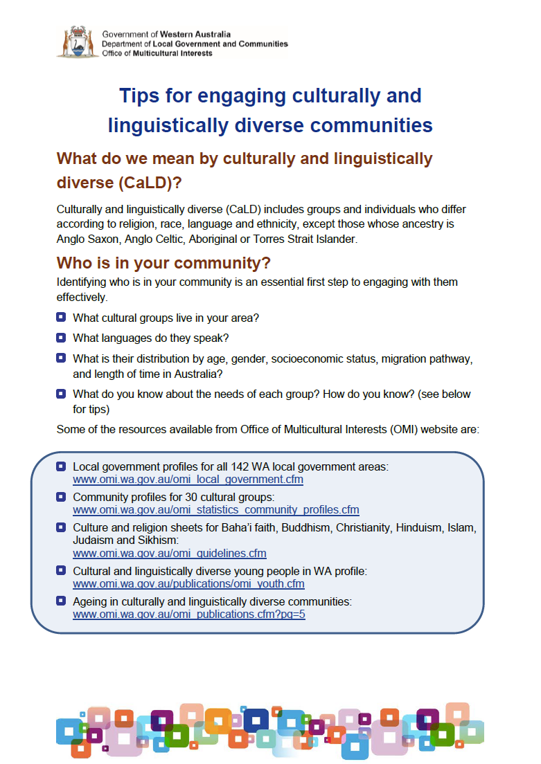 C:\Users\gwhite\DLGSC\DLGSC Website - Documents\Content\OMI\Images\Tips for engaging culturally and linguistically diverse communities