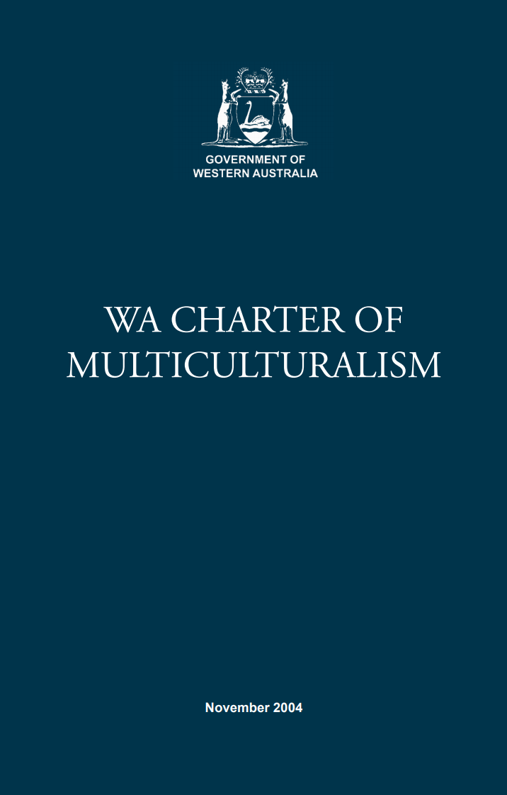 WA Charter of Multiculturalism cover